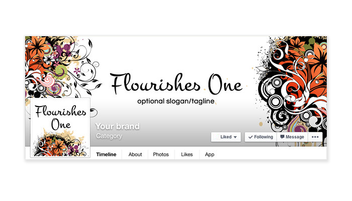 Flourishes 1 - Facebook Timeline Cover with Profile Picture