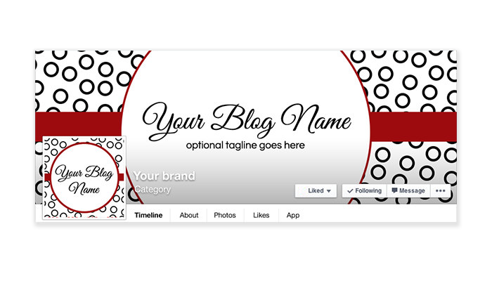 Polka Dot Fun 1b - Facebook Timeline Cover with Profile Picture