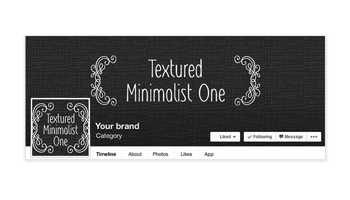 Textured Minimalist -  Facebook Timeline Cover with Profile Picture