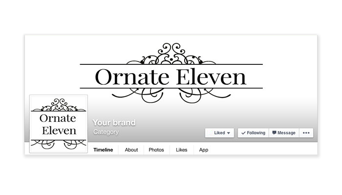 Ornate 11 -  Facebook Timeline Cover with Profile Picture