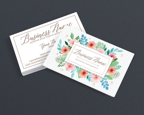 Floral Business Card Design - Creative Business Card Design - Polly