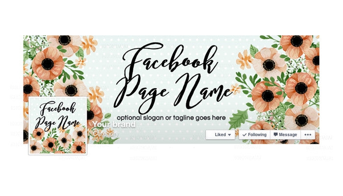 Facebook Banner - Facebook Timeline Cover with Profile Picture - Daphne
