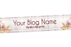 Blog Header Banner Design - Floral Rustic Lace 2