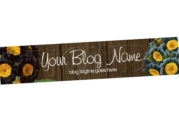 Floral Blog Header Banner - Floral PS8