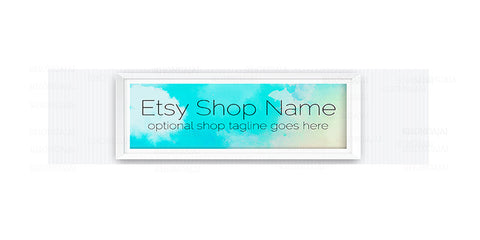Modern Etsy Shop Cover - Home and Living Etsy Banner - Etsy Shop Cover - Framed Abstract 1