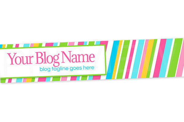 Colorful Blog Header Banner Design - Fun 2 - PS7