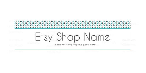 Modern Etsy Shop Cover - Geometric Etsy Banner -  Etsy Shop Cover - Geometric 10-16