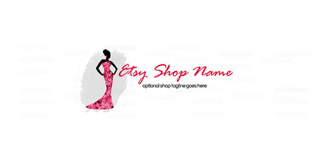 Etsy Shop Cover - Etsy Shop Cover - Glamour Girl 2b