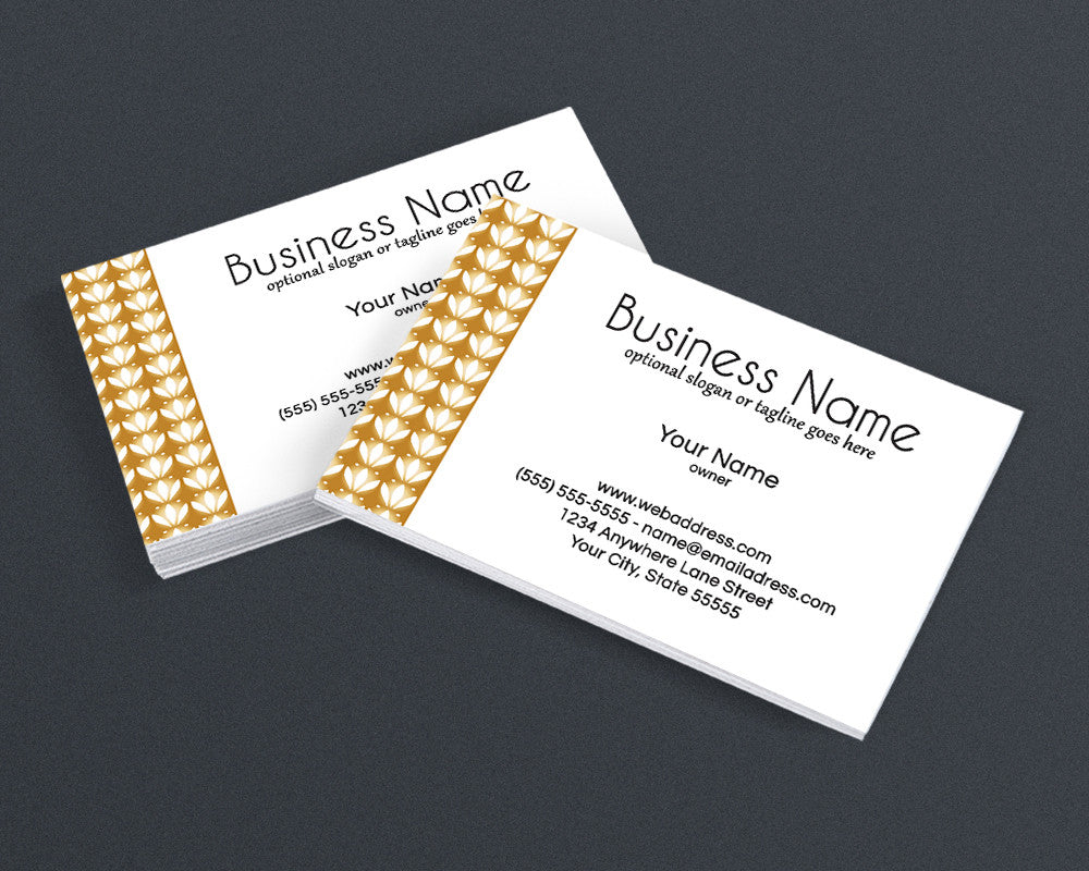 Gold Three - Business Card Design