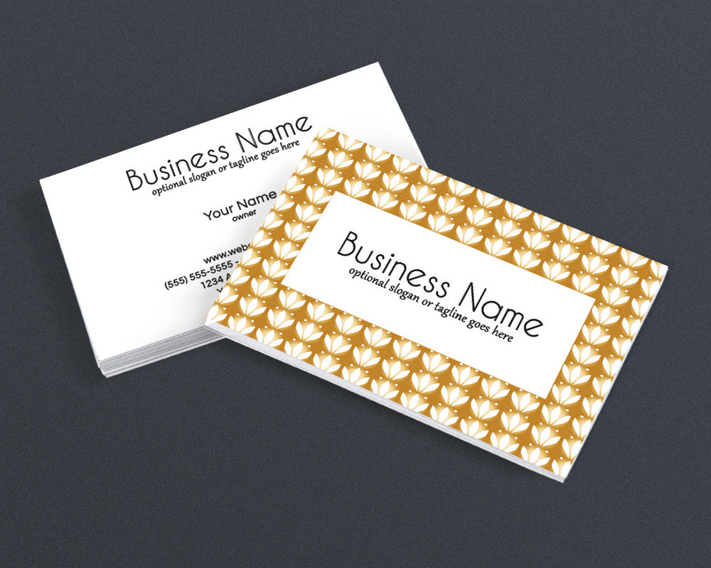Gold Three - 2 Sided Business Card Design