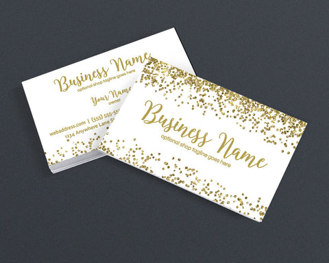 Gold Glitter Business Card Design - Creative Business Card Design - Gold Glitter