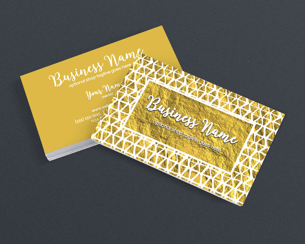 Gold Business Card Design - Creative Business Card Design - Gold 3 ...