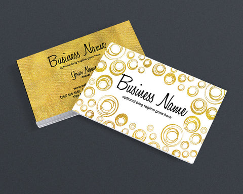 Gold Business Card Design - Modern Business Card Design - Jessica