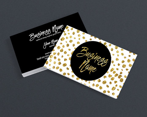 Gold Polka Business Card Design - Modern Business Card Design - Polka Dot 2