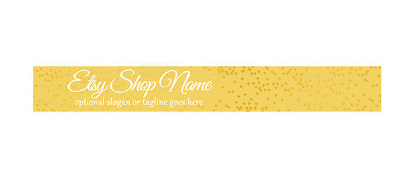 Gold Sixteen - Etsy Shop Banner