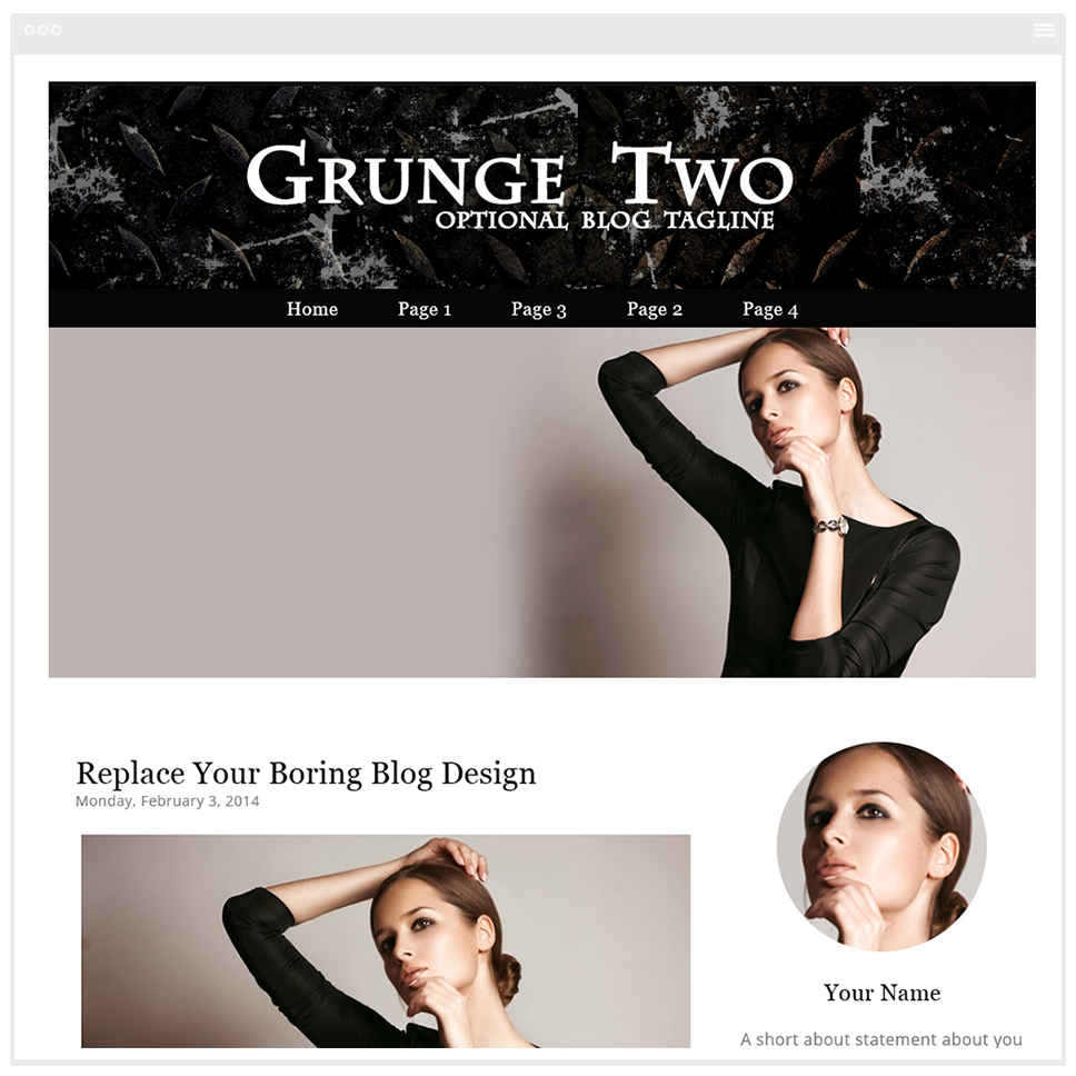 Grunge Two - Blogger Template