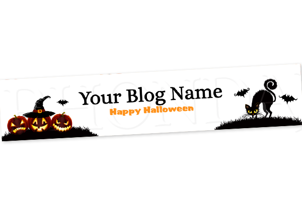 Blog Design - Halloween Header Banner - 2