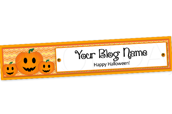 Blog Design - Halloween Header Banner - 6
