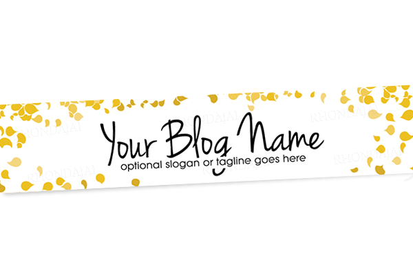 Blog Header Banner Design - Gold Banner 14