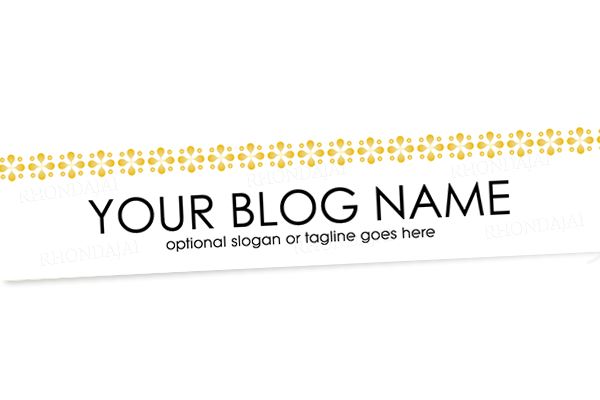 Blog Header Banner Design - Gold Banner 2