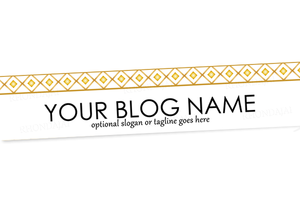 Blog Header Banner Design - Gold Banner 3
