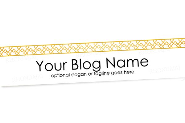 Blog Header Banner Design - Gold Banner 4