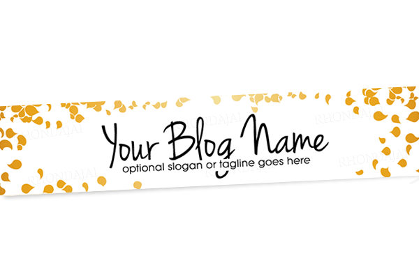Blog Header Banner Design - Gold Banner 8