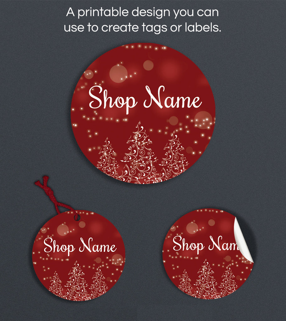 Christmas Label or Hang Tag Design - Christmas PS4