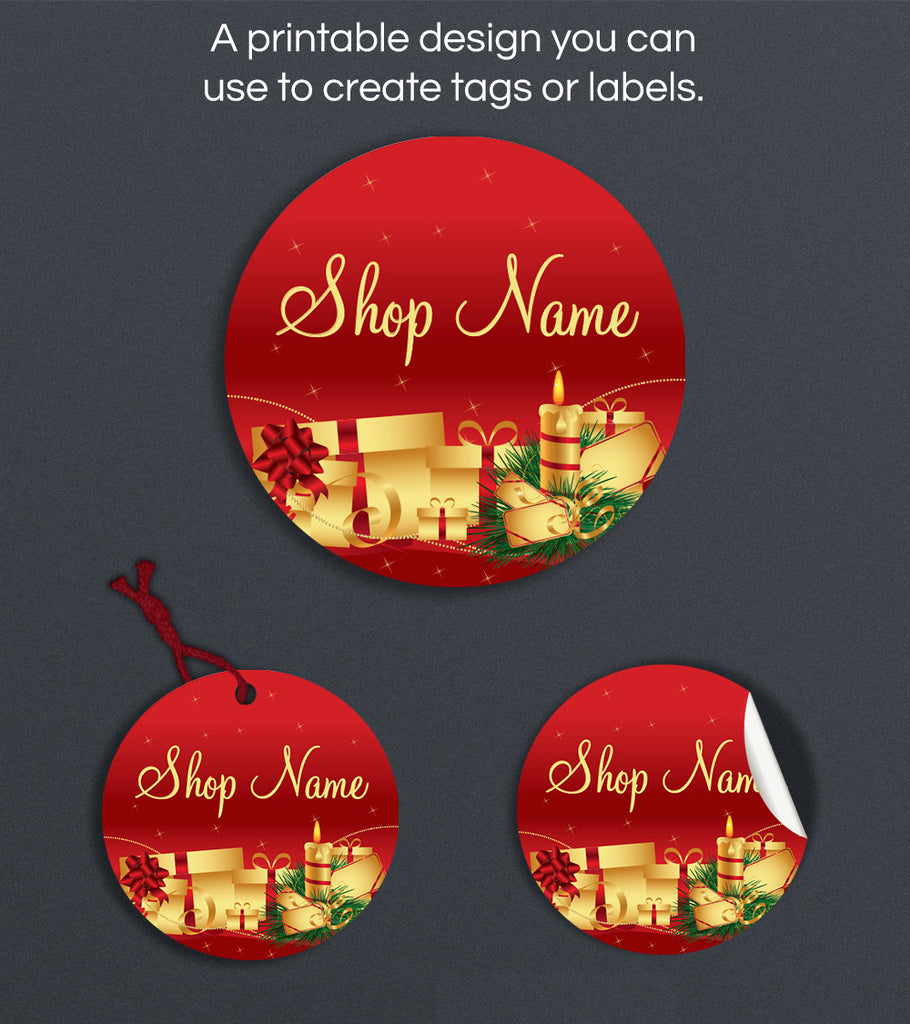 Christmas Label or Hang Tag Design - Christmas 5