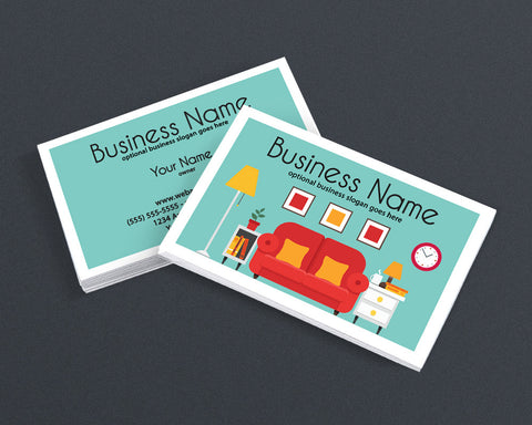 Interior Design Business Card - 2 Sided Business Card Design - Home & Living 1