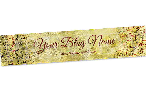 Blog Header Banner Design  - Vintage A5