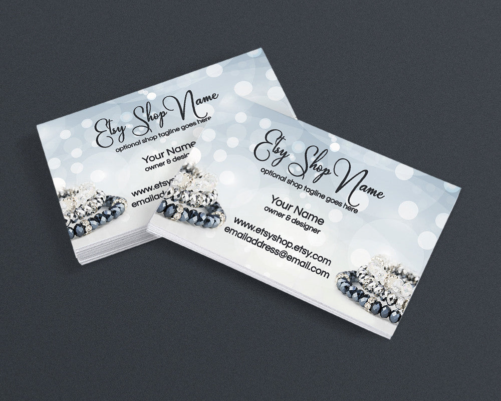 Jewelry Designer Business Card Design - Business Card Template - Jewelry Business Card - Jewelry 8