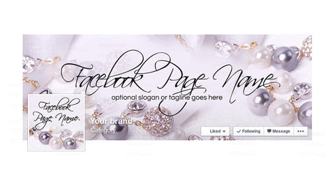 Facebook Banner - Facebook Timeline Cover with Profile Picture - Jewelry 5