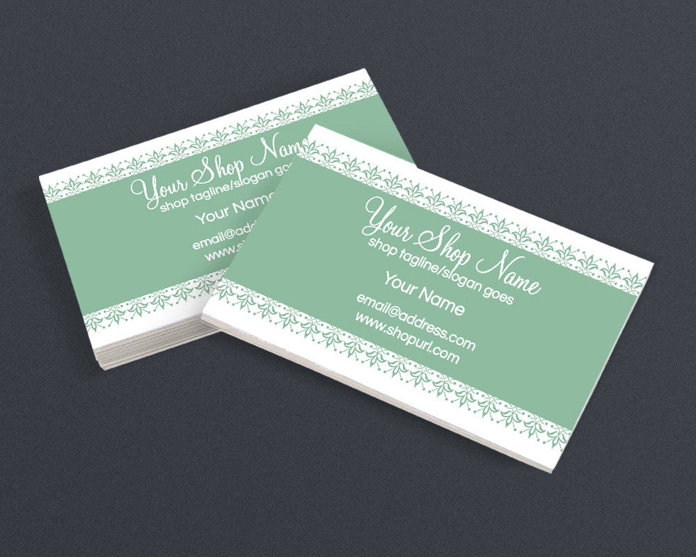 Chic 11 Green - il - Printable Business Card Design