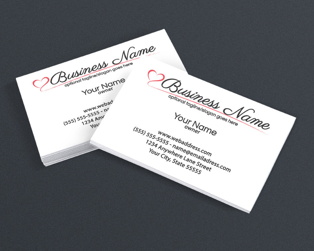 Business Card Design - Logo Style 12 - The Amanda Beesley Collection