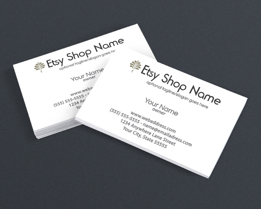Business Card Design - Logo Style 2 - The Laura James Collection