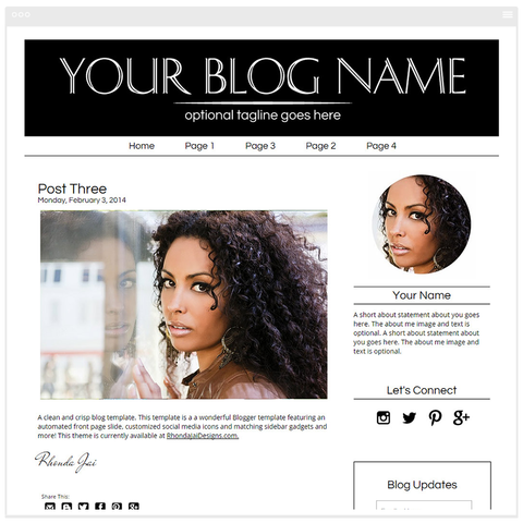 Minimalist 3 - Premium Blogger Template - Blog Design