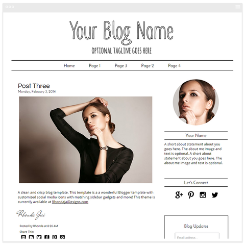 Minimalist 4 - Premium Blogger Template - Blog Design