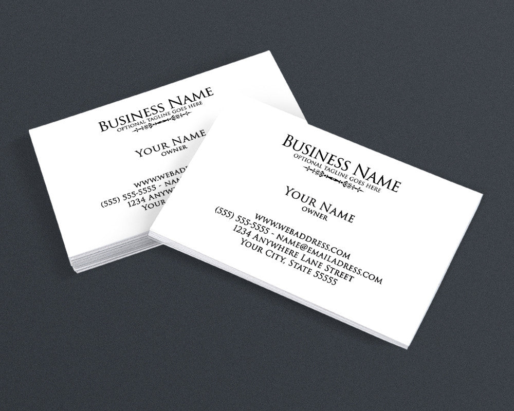 Minimalist 4 - Business Card Design