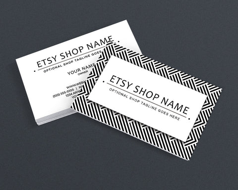 Stylish Business Card Design - Modern Business Card Design - Black and White 14-16b