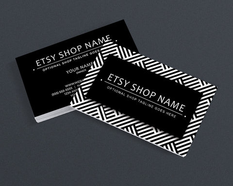 Stylish Business Card Design - Modern Business Card Design - Black and White 14-16