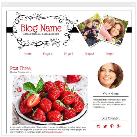 Modern Chic - Premium Blogger Template - Blog Design