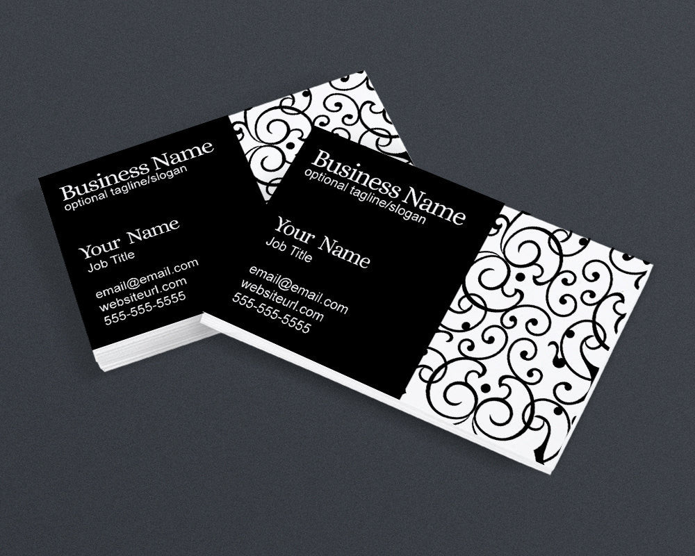 Business Card Design - Black and White - Elegant PS1 - Printable Business Card