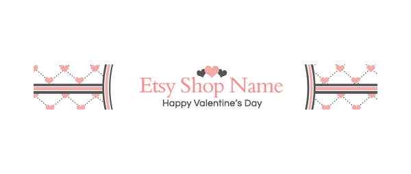 Valentine's Day Shop Banner -  PS 2 - Etsy Shop Banner