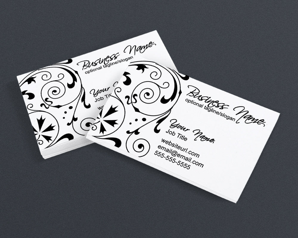 Business Card Design - Black and White - Elegant PS4 - Printable Business Card