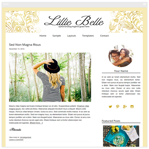 Lillie Belle - Mobile Responsive WordPress Theme - Genesis Child Theme and Framework