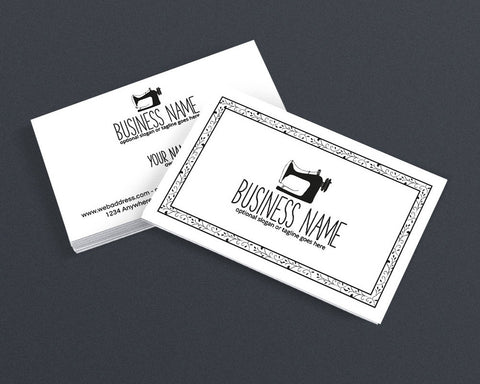 Sewing Business Card Design - Crafty Business Card Design - Sewing 101 Black and White