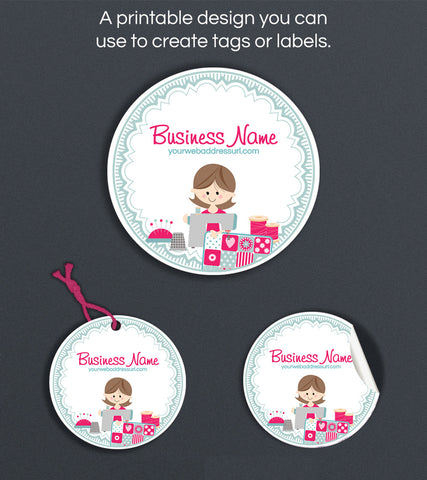 Label or Hang Tag Design - Sewing 6
