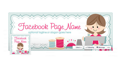 Facebook Banner - Facebook Timeline Cover with Profile Picture - Sewing 6