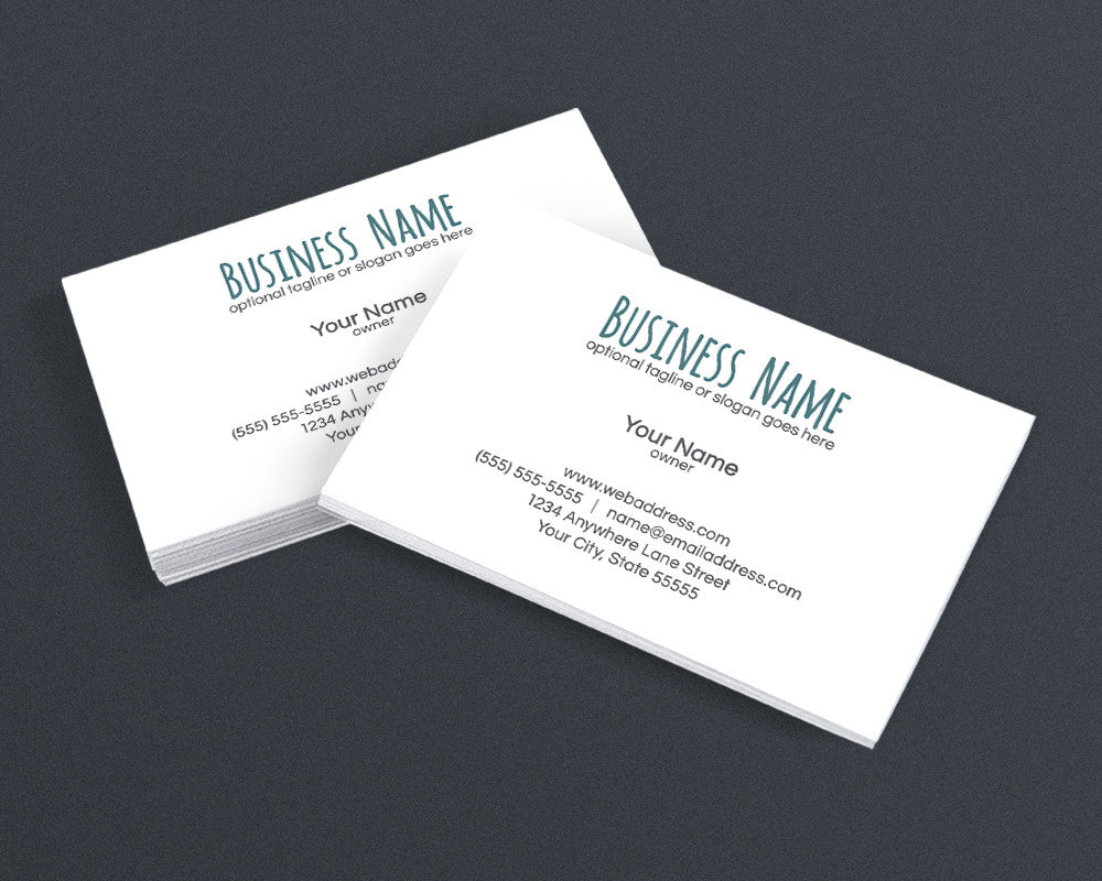 Minimalist 2A - Business Card Design